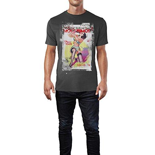 SINUS ART® Movie Humor Herren T-Shirts stilvolles rauch graues Fun Shirt mit tollen Aufdruck
