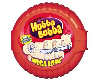 Wrigleys Hubba Bubba Snappy Strawberry Flavour Mega Long (56g x - Bubble Wrigleys Tape