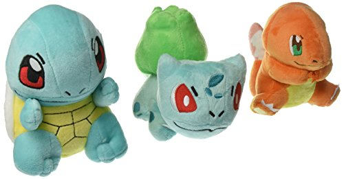 Pokemon Bulbasaur Charmander Squirtle Stuffed Plush Doll Toy