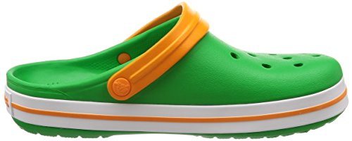 Crocs Sabots - Crocband - Grass Green White Blazing Orange Y9mloY