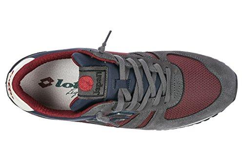 LOTTO Tokyo Shibuya sneakers scamosciate uomo TESSUTO PELLE NAVY BLU T0841 inver Grau
