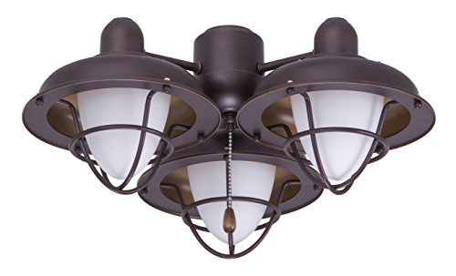 Emerson Ceiling Fan Light Fixtures Ceiling Fans LK40VNB Boardwalk Cage Light Kit for Ceiling Fans,  Medium Base CFL, Venetian Bronze Ceiling Lamp