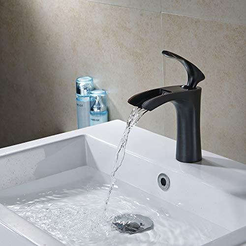 Beati Faucet Waterfall Single Handle Bathroom Sink Faucet,Oil Rubbed Bronze