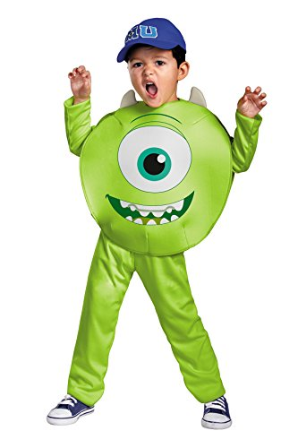 Disguise Boy's Monsters Mike Wazowski Theme Outfit Child Halloween Costume, Toddler M (3T-4T) Green -