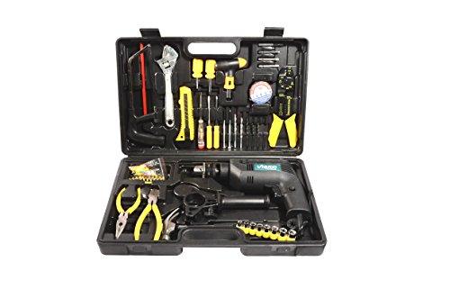 Visko Z1J-13 Impact Drill with Tool Kit Set (Black, 82-Pieces)