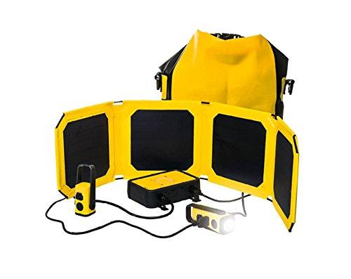 WakaWaka Base 10 Solar Power & Light Kit - 10000mAh power bank, 10W solar panel, and accessories WakaWaka CA WWB10-YLW-S