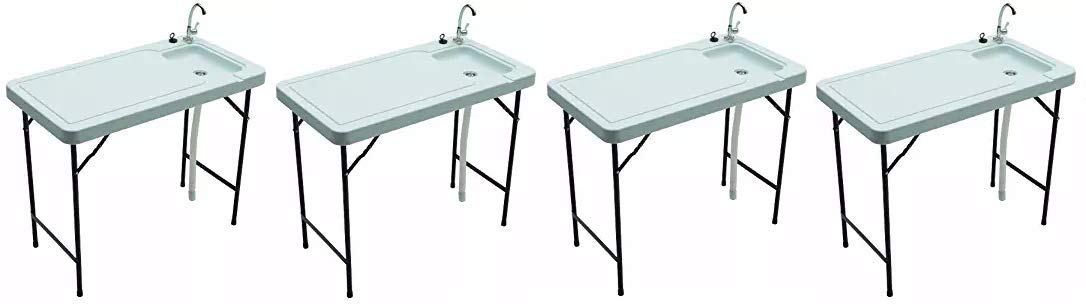 Tricam MT-2//SKFT-44 Outdoor Fish and Game Cleaning Table with Quick-Connect Stainless Steel Faucet
