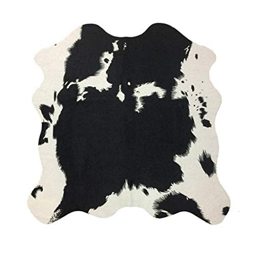 CarPet Area Rugs Simulation Animal Cow Pattern Living Room Bedroom Bedside Mirror Front Floor Mat Leather, 160 140cm Area Rugs (Color : White, Size : 160140cm) (Carpet Forgive)