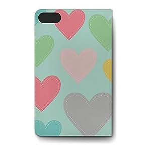 Leather Folio Phone Case For Apple iPhone 5S Leather Folio - Big Heart Soft Wrap-Around
