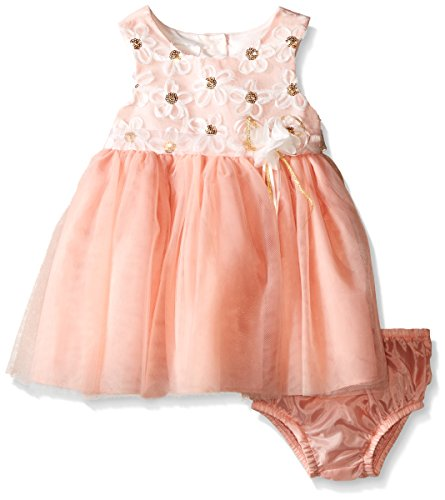 Bonnie Baby Girls' Sleeveless Side Sash Ballerina Party Dress with Panty, Daisy, 18 Months ()