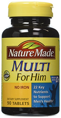 Nature Made Multi For Him Vitamin and Mineral, 90 Tablets (Pack of 3)