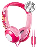 Kids Headphones, Mumba Volume Limited Over Ear Headphones Girls, 85 Safe Listening Adjustable Headsets with Microphone for Kids Children Pink