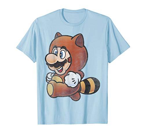 (Nintendo Super Mario Tanooki Suit Vintage Graphic T-Shirt)