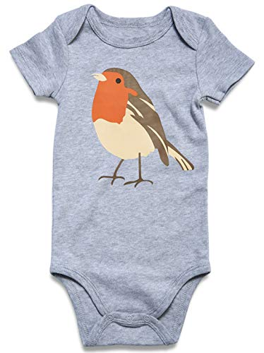 Bird Print Apparel for Children Autumn Gray 0-3 M