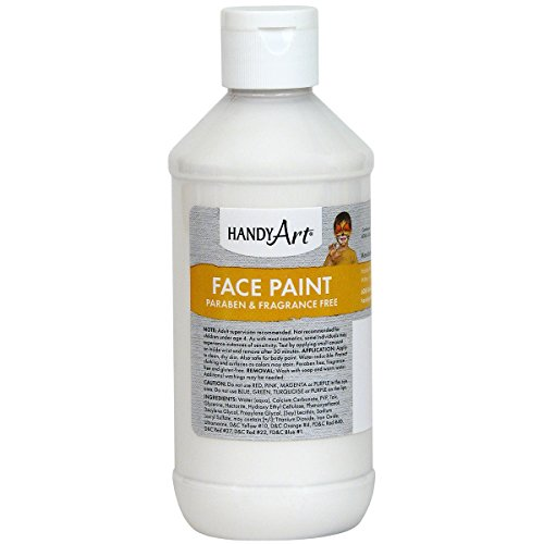 Handy Art Face Paint, White, 8-Ounce