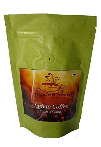 Nick of Time Indian arabica AAA grade coffee from Coorg region India - Dark Roast Ground (250gm/8.8oz)