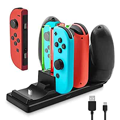 Amazon.com: Controller Charger for Nintendo Switch, 6 in 1 ...