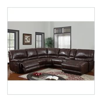 Global Furniture Usa U1953 Sectional 940 Global Furniture Piece 6 Pcs Sectional Brown 940