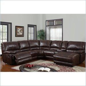 (Global Furniture USA U1953-SECTIONAL BROWN 940-Global Furniture Piece 6 Pcs Sectional)