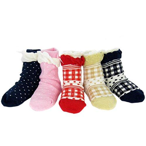 KF Non Skid Ruffle Socks Value