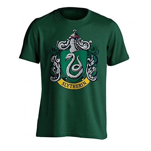 Hombre La Camiseta Verde Casa Para Potter Oficial Escudo De Harry Slytherin zXw6vZnw