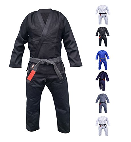 Your Jiu Jitsu Gear Brazilian Jiu Jitsu Uniform Light A1 Black Free White Belt
