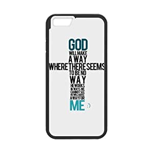iPhone 6 Protective Case -Motivational Quote Bible Verse Hardshell Cell Phone Cover Case for New iPhone 6 by mcsharks