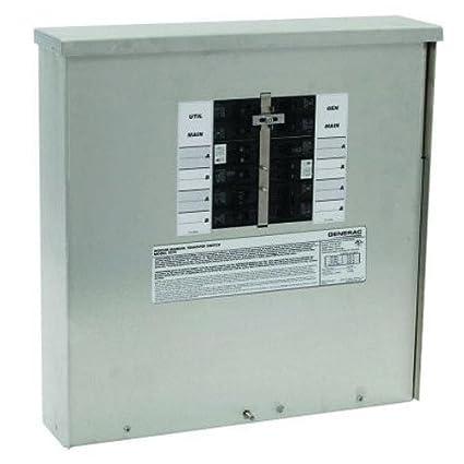 Generac 30 Amp Pre Wired 6 Circuit Manual Transfer Switch: Amazon.com: Generac 6379 30-Amp 10-16 Circuit Manual Transfer rh:amazon.com,Design