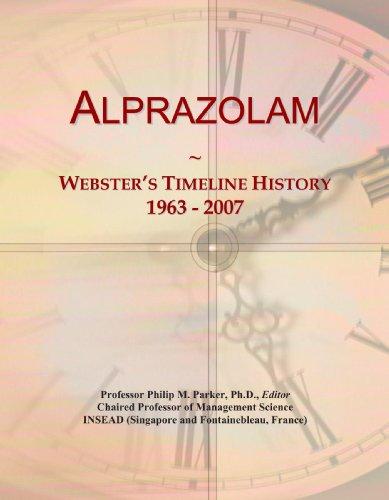 Alprazolam  Websters Timeline History  1963   2007