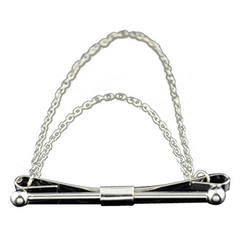 DDLBiz Necktie Cravat Brooch Silver