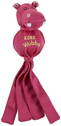 KONG Wubba Ballistic Friends Dog Toy - Purple Hippo - Small