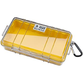 Waterproof Case | Pelican 1060 Micro Case - for iPhone, cell phone, GoPro, camera, and more (Yellow/Clear)