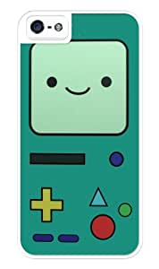 Beemo Adventure Time Rugged Premium iphone 5 / iPhone 5S case - Fits iphone 5, iPhone 5S T-Mobile, AT&T, Sprint, Verizon and International (White) by icecream design