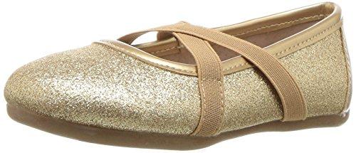 Livie & Luca Girls' Aurora Ballet Flat, Gold Sparkle, 10 Medium US Toddler ()