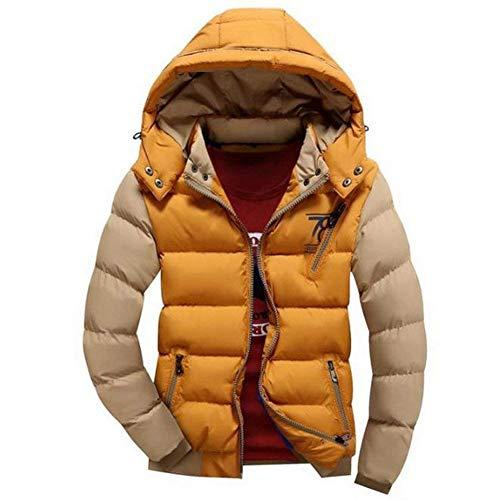 Jackets Jacket Sleeve Men's Outerwear BoBoLily with Coat Down Zipper Warm Kaki Side Lightweight Long Jacket Pockets xwIfSq