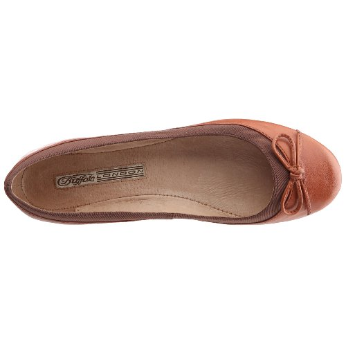 Buffalo London 207-3562 BABY BILL LEATHER 100118-1 - Bailarinas para mujer Marrón (Tan 01)