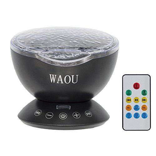 WAOU Remote Control Ocean Wave Projector Night Light Lamp...