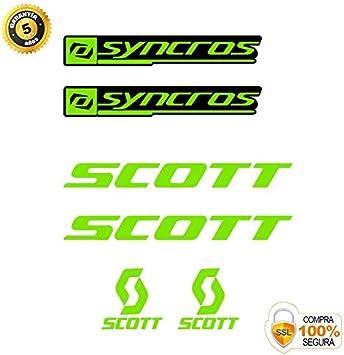 Pegatinas para Bici - Sticker Decorativo Bicicleta - Juego de Adhesivos en Vinilo para Bici Scott SYNCROS Pegatinas Cuadro Bici: Amazon.es: Coche y moto