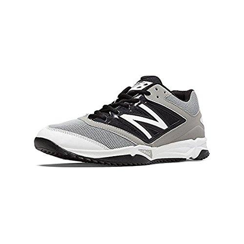 New Balance Mens T4040V3 Turf Baseball Shoe Grey-Black