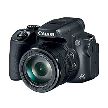 Canon Powershot SX70 20.3MP Digital Camera 65x Optical Zoom Lens 4K Video 3 LCD Tilt Screen (Black)