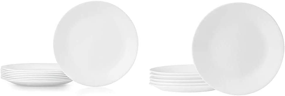 Corelle Dinner Plates, 8-Piece, Winter Frost White & Winter Frost White 6-3/4-Inch Plate Set (6-Piece)