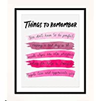 """""""Things To Remember To Make Life Better""""- Sign Wall Art- 8 x 10"""" Print Wall Decor-Ready to Frame. Watercolor Replica Print for Home-Office Decor. Great Reminders that""""It's OK"""" in Reds."""