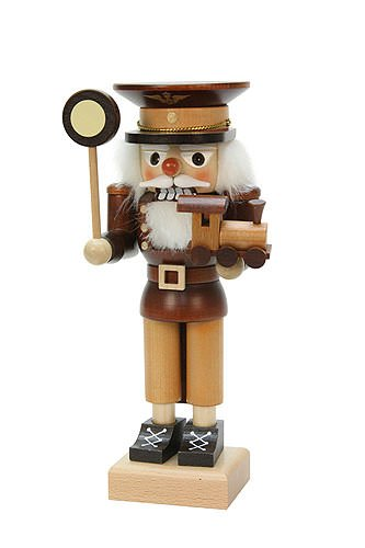 German Christmas Nutcracker Conductor natural wood - 24,5cm / 10 inch - Christian Ulbricht