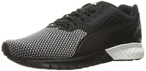 PUMA Men's Ignite Dual Nylon Cross-Trainer Shoe, Puma Black/Puma White, 12 M US