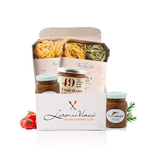 Box Pasta Boloñesa: Pasta Al Huevo, Salsa Boloñesa Y Salsa De Carne De Pato - Gastronomía Italiana - Comida Italiana, Productos Italianos Típicos: ...