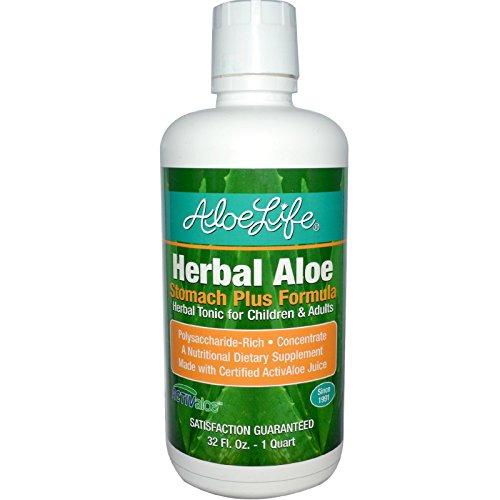 Aloe Life International, Inc, Herbal Aloe, Stomach Plus Formula, 32 fl oz (1 Quart) - 3PC by Aloe Life International, Inc