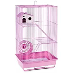 Domestic Pet Small Pet Products Lilac Three Story Hamster & Gerbil Cage Advanced