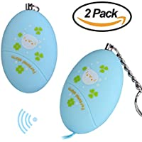 Personal Alarm [2 Pack] Emergency Self Defense Electronic Device 120dB Volume -UTOPER Anti-Theft , Anti-Attack Handy Keychain Alarm for Student/Children/Women/Elder(Cartoon Blue)