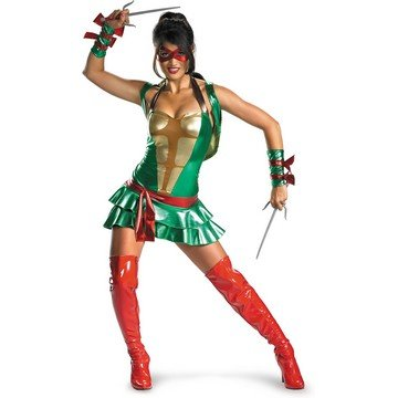 [Deluxe Sassy Teenage Mutant Ninja Turtles Costume - Small - Dress Size 4-6] (Sassy Ninja Turtle Costumes)