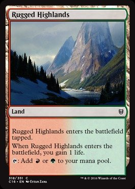 Magic: the Gathering - Rugged Highlands (318/351) - Commander 2016